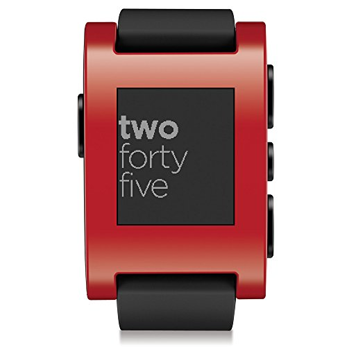 Pebble Smart Watch for iPhone and Android Devices (Red ...