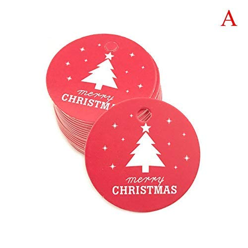 Party DIY Decorations - 100pcs Star Santa Claus Christmas Tag Candy Bag Decoration Gift Package Hang Tags Xmas Party - Decorations Party Party Decorations Label Paper Kraft Craft Hand Cloth Cust