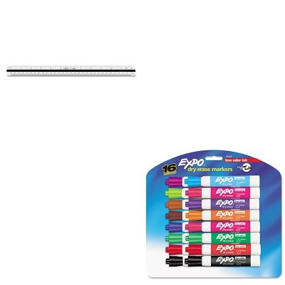 KITCHA235ESAN81045 - Value Kit - Chartpak Triangular Scale (CHA235E) and Expo Low Odor Dry Erase Markers (SAN81045) by Chartpak (Image #1)