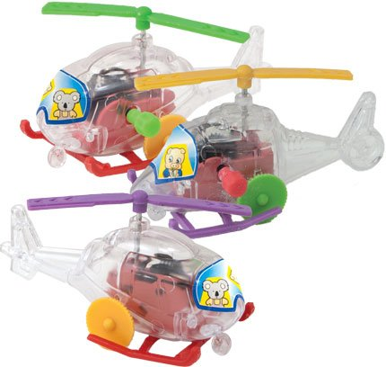 Wind Up Helicopters Toy Party Favors or Giveaways Kids Party Toys, Birthday Toys, Assorted Color, Pack of 24