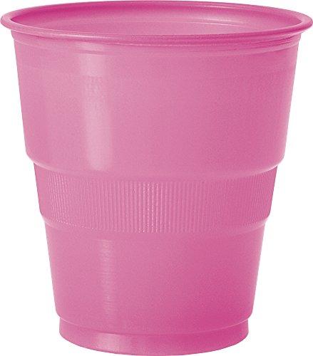 Hot Pink 9oz Plastic Cups