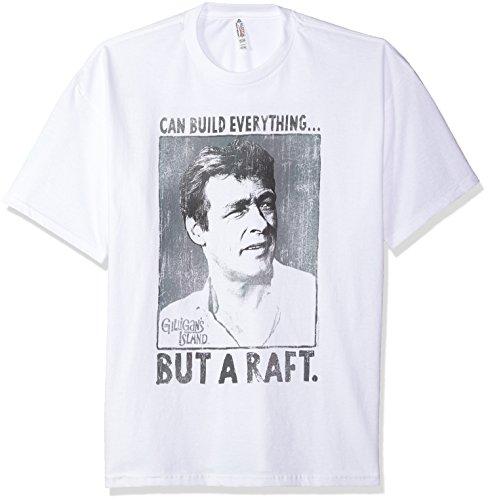 Trevco Men's Gilligan's Island Short Sleeve T-Shirt, White, Medium