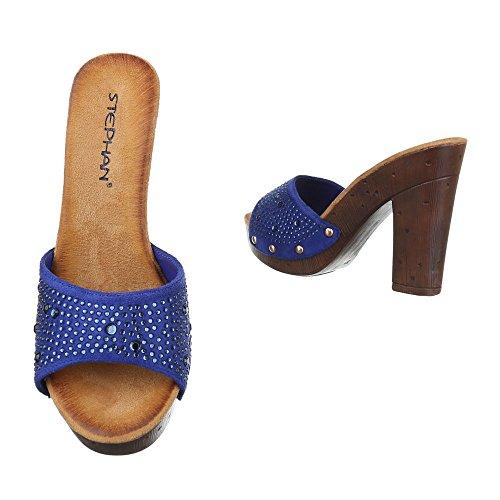 Ital-Design - zapatillas de baile (jazz y contemporáneo) Mujer Azul