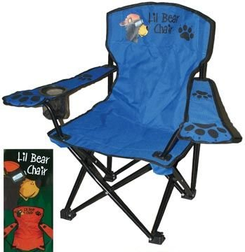 Kids Folding Camp Chair, Ages 2-6, Lil Bear Color Varies