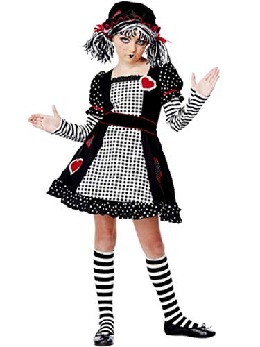 Child size Gothic Rag Doll Costume - Dolly Goth - 2 sizes -