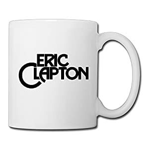 Christina Eric Clapton Logo Ceramic Coffee Mug Tea Cup White