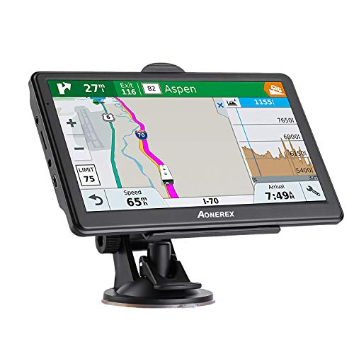 car Navigation 7 inch Touch Screen + 8GB Voice Prompt GPS Navigation System Built-in Lifetime Maps,Advanced Lane Guidance and Spoken Turn-by-Turn Directions Review
