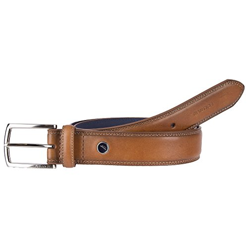 (Nautica Men's Belt with Dress Buckle and Stitch)