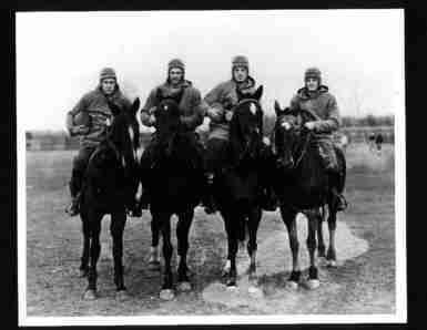 Dame Notre Horsemen Four (Photo of Four Horsemen of Notre Dame c1924)