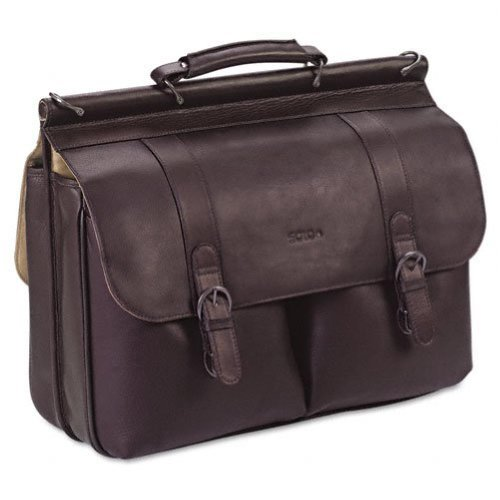 SOLO : Laptop Portfolio, Leather, 16-1/2 x 4-3/4 x 13, Espresso -:- Sold as 1 (Solo Computer Portfolio)