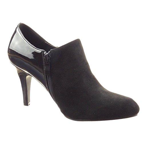 Botas Baixa Mulheres Das Patente Moda De Sopily De Jóias Botas Sapatos Da Pretas HtpwZqS