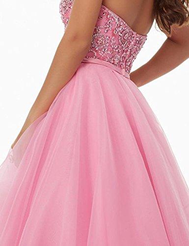 Delle Partito Besswedding Bp153 Bordatura Sweetheat Abiti Da Donne Del Ballo Lungo Pink2 Abiti aUZv4qnw