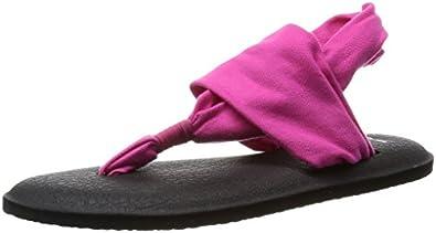 Sanuk Women's Yoga Sling 2 Flip-Flop (5 B(M) US / 36 EUR, Magenta)