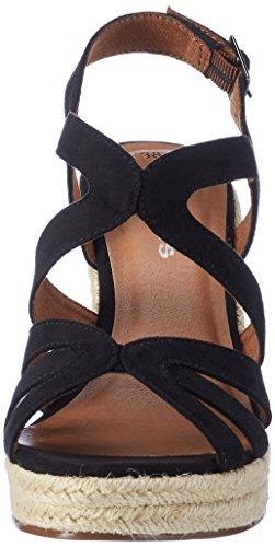 Tamaris 28342, Sandalias con Cuña para Mujer Negro (Black 001)