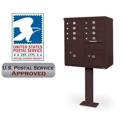 Cbu Pedestal - postalproducts N1031041 8 Door CBU with Pedestal, 62