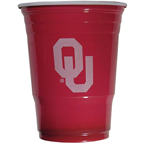 Siskiyou NCAA Oklahoma Sooners Plastic Game Day Cups 2 Sleeves of 18 (36 Cups)