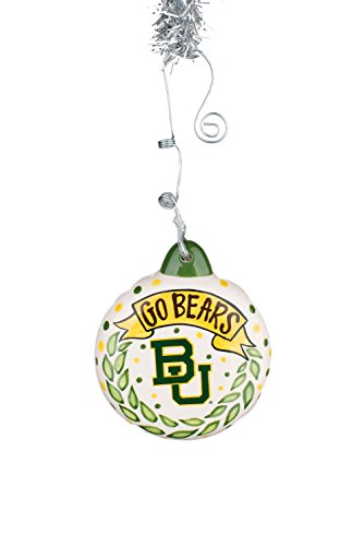Glory Haus Baylor Puff Ornament, Multicolor by Glory Haus