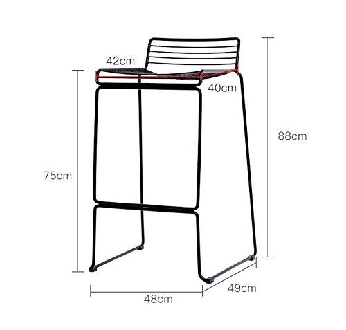 Creative Bar Stools, Iron Stools Lounge Stools / High Chair Stools ( Color : White )