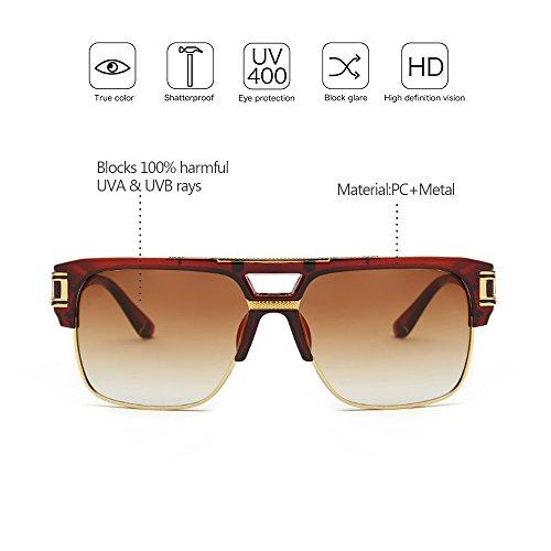 Vendimia Gafas UV400 KINDOYO Estilo Unisex de las la sol para libre aire 01 Delicada Mujeres de de al Hombre 5H1nHwxqzv