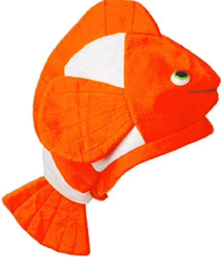 US Toy - Stuffed Plush Nemo Clown Fish Hat Costume Party Cap, 18