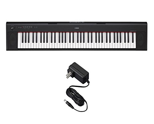 Yamaha NP32 NP-32 Black Portable Digital 76-Key Piano with Free Power Supply