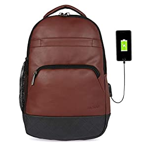Fur Jaden Anti Theft Zipper 15.6 Inch Waterproof resistant Backpack Bag With Usb Charging Port 30 Ltrs Black Casual Backpack