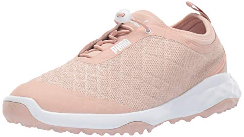 PUMA Golf Women's Brea Fusion Sport Golf Shoe Cameo Rose White 7 M US ()
