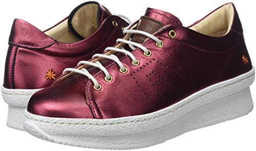 Donna Rosso Metalic Sneaker amarante Amarante Art EqTHxS