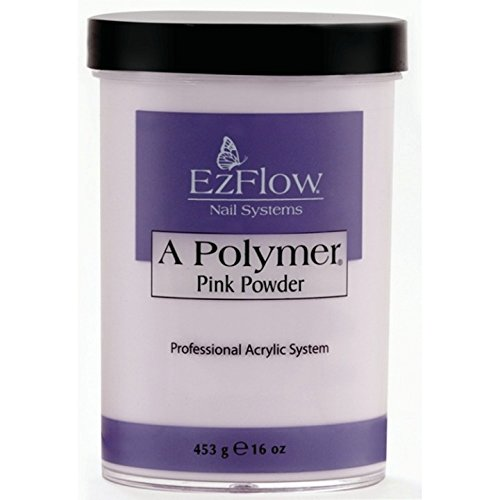 EZ Flow Polymer Pink False Nails, 16 - Acrylic Ezflow Powder