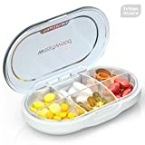 Kusuo Portable Pill Organizer, Pill Box Case with Moisture-Proof Design for Purse