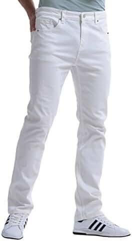 Alice & Elmer Men's Regular Slim Fit Straight Leg Jeans