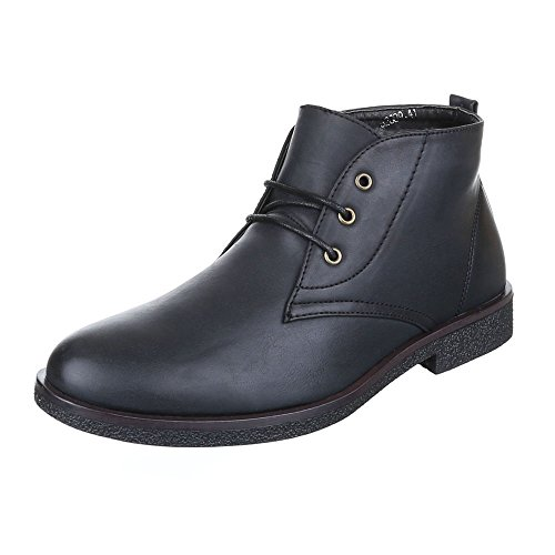Ital-Design - Stivali Desert Boots Uomo Nero