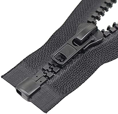 24 White YaHoGa 2PCS 24 Inch #5 Separating Jacket Zippers for Sewing Coats Jacket Zipper White Molded Plastic Zippers Bulk