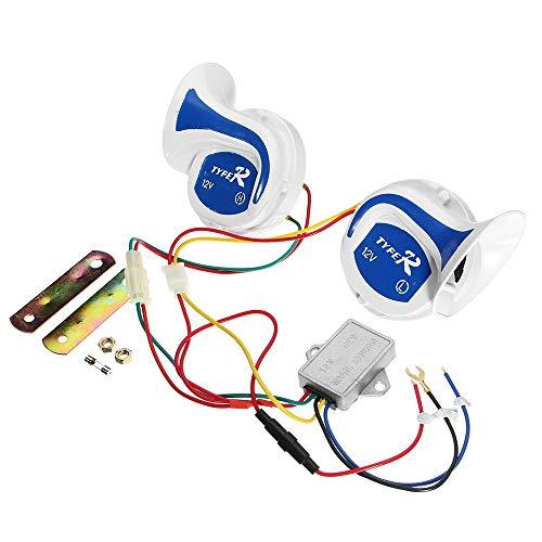 KENTT 12V Loud 18 Sounds Electric Digital Air Horn Siren Speaker for Auto Car Boat Megaphone Alarm Loud Speaker Siren ()