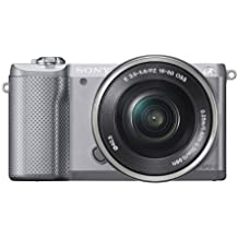 Sony Alpha a5000 Mirrorless Digital Camera with 16-50mm OSS Lens (Silver)
