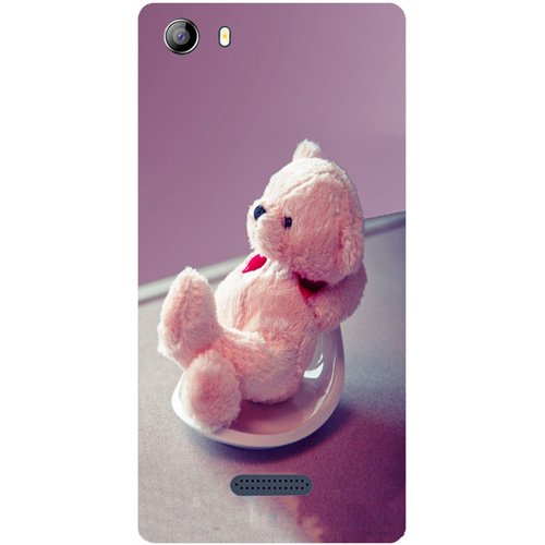 Casotec Cute Teddy Bear Design Hard Back Case Cover for Micromax Canvas 5 E481