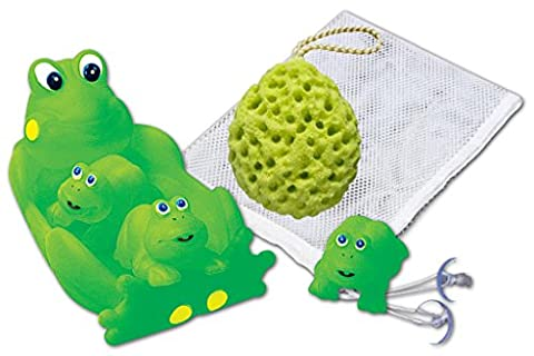 Rubber Frog Family Bath Toy Set - 8