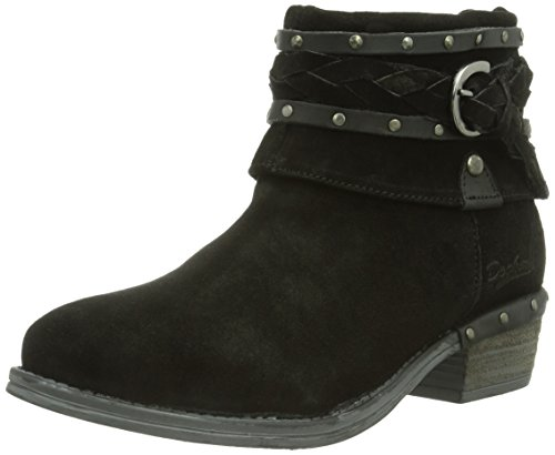 Dockers 354043-141001, WoMen Unlined slip-on boots short length Black - Schwarz (Schwarz 001)