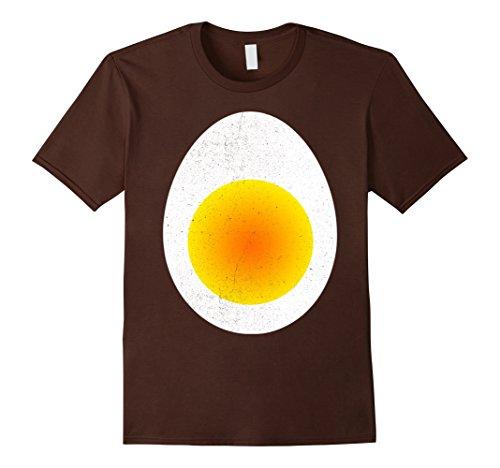 Mens Deviled Egg Costume T-Shirt Funny Large Brown - Deviled Egg Adult Costumes