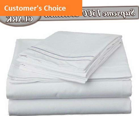 Mikash New Soft Bed Sheet Set - Double Brushed Microfiber 4-Piece Bed Set - Deep Pocket Fitted Sheet - Full - White | Style -