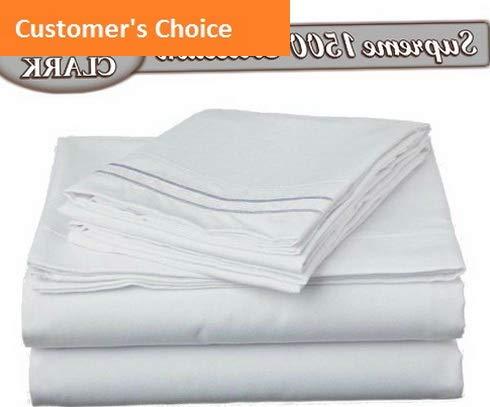 eme 1500 Collection 5pc Bed Sheet Set - Split King Size, White | Style 84599678 ()