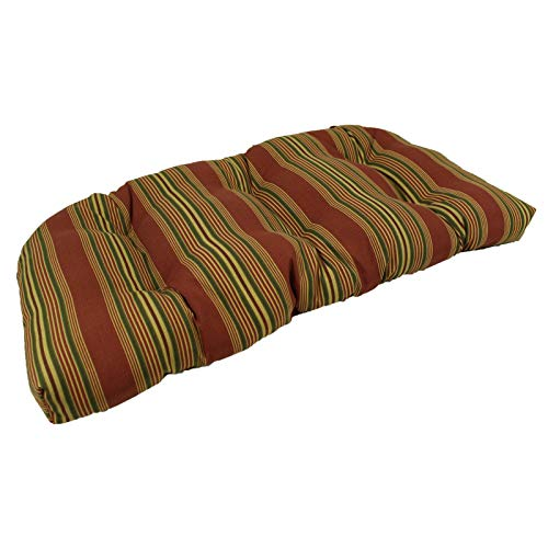 OKSLO Sweetwater stripe sunbrella outdoor u settee cushion Model d2329