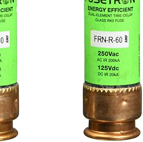 Frn-r-60 Bussmann Fusetron Time-delay Class Rk5 Fuse 60a 250v for sale online