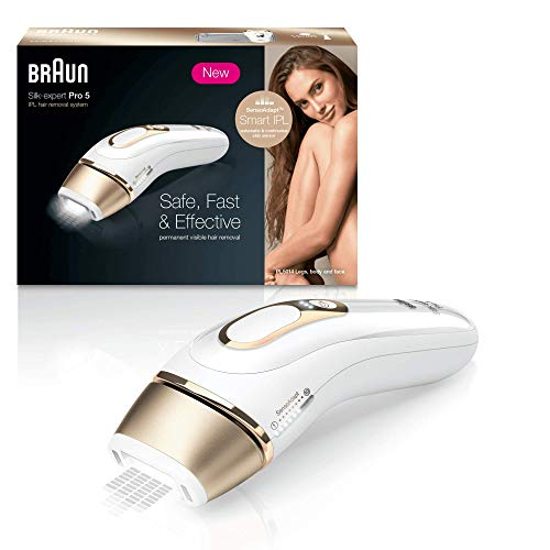 Price comparison product image Braun Silk·Expert Pro 5 PL5014 IPL Permanent Hair Removal - White and Gold