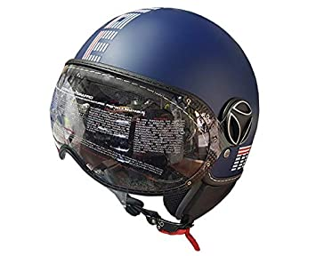 Casco Jet Momo Fighter FGTR EVO Limited Edition Azul Matt Verano Tamaño S