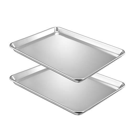 QuCrow Nonstick Baking Sheet Pan, Aluminum Cookie Sheet, Bakers Half Sheet Pan, 18