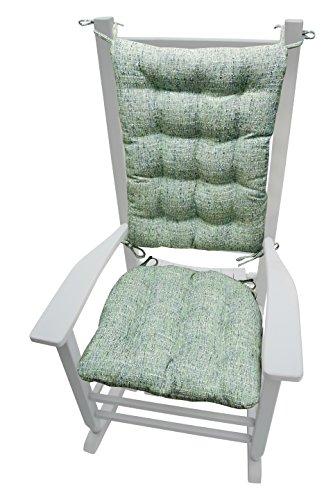 Sea Rocking Chair - Barnett Products Rocking Chair Cushions - Brisbane Boucle Sea Glass - Latex Foam Fill - Reversible