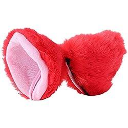 Voberry@ Cat Fox Fur Ears Hair Clip Headwear Anime Cosplay Halloween Faux Fur Costume (F)