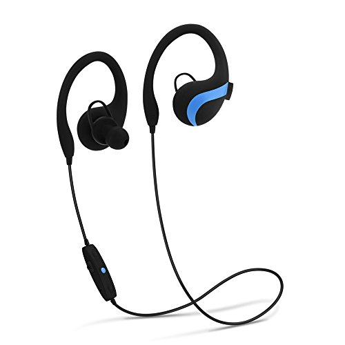 Price comparison product image Bluetooth Headphones,JiiJian Wireless Headphones Bluetooth V4.1 Earbuds with Mic Noise Cancelling Sports Headset for Sumsang S9/Note8 plus,iPhone X/8/8 plus/iPads/Other Bluetooth Devices(Blue)