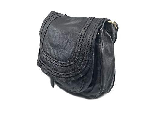 Sac 31 cm Grey porté à épaule Campomaggi main cuir H6dnqWx